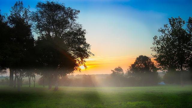 berjalan kaki santai pada pagi hari