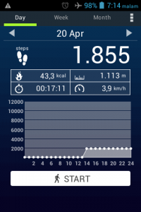 1 km berapa menit jalan kaki